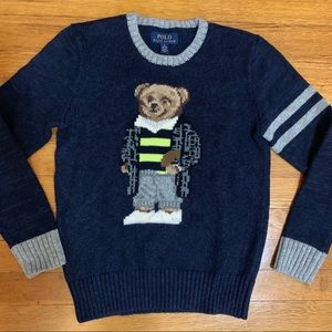 Polo by Ralph Lauren rugby bear sweater size 10-12